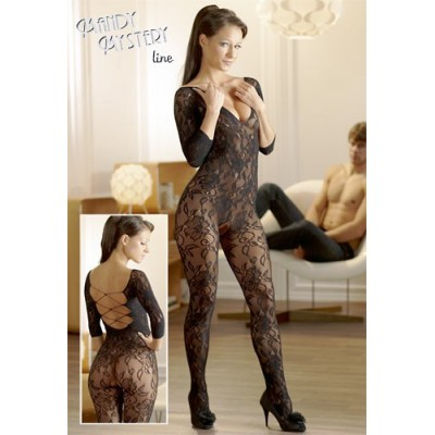 CATSUIT IN PIZZO FLOREALE...